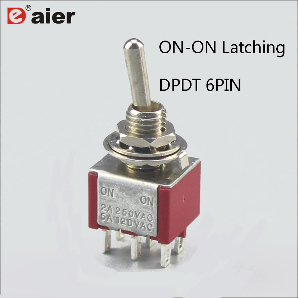 20Pcs AC 250V 2A Amps 3-Pin ON//ON 2 Position SPDT Latching Toggle Switch