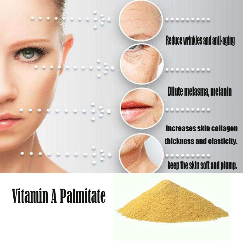 Vitamin A Powder Reduces Wrinkles Retinyl Palmitate , Increases Skin Collagen,Promoting Bone Development,eye Health