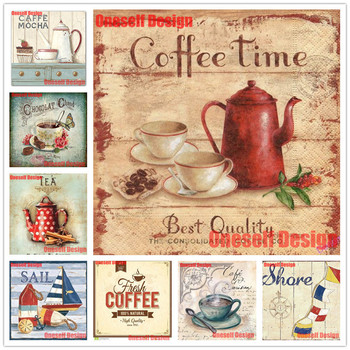 rhinestone picture diy diamond painting full square offee diy diamond embroidery sale coffee relax time 5d diamond mosaic sale image