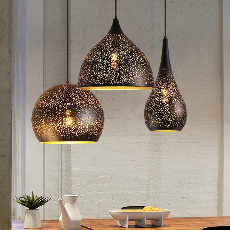 Moroccan Pendant Lamp For Bedroom Dining Room Kitchen Island Mosque Chandeleir Indoor Home Black Loft Chandelier