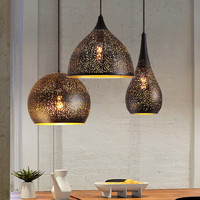 Moroccan pendant lamp for Bedroom Dining room Kitchen Island mosque chandeleir indoor home Black Loft Chandelier