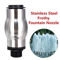 DN25 stal nierdzewna staw sprężynowy dysza fontannowa głowica do spryskiwacza do basenu ogrodowego nowość