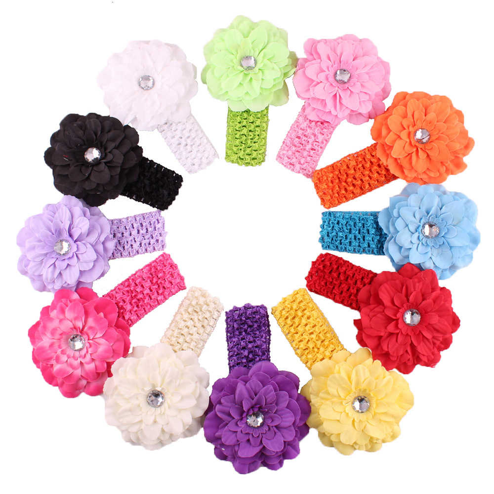 baby girl headband Infant hair accessories cloth band bows Headwear tiara headwrap Gift bandage Ribbon flower newborn Toddlers