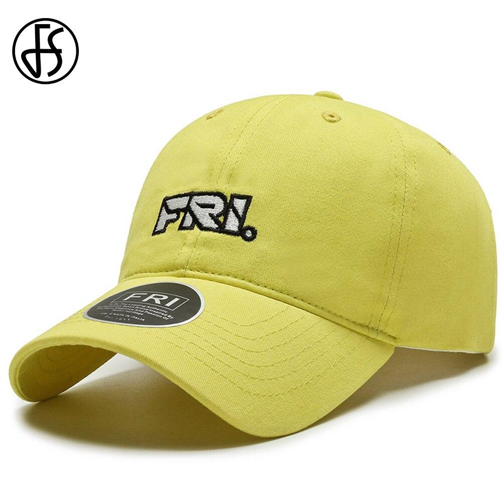 FS 2021 Trendy Streetwear Face Cap For Women Men Snapback Baseball Caps Yellow Orange Purple Trucker Hat Casquette Homme