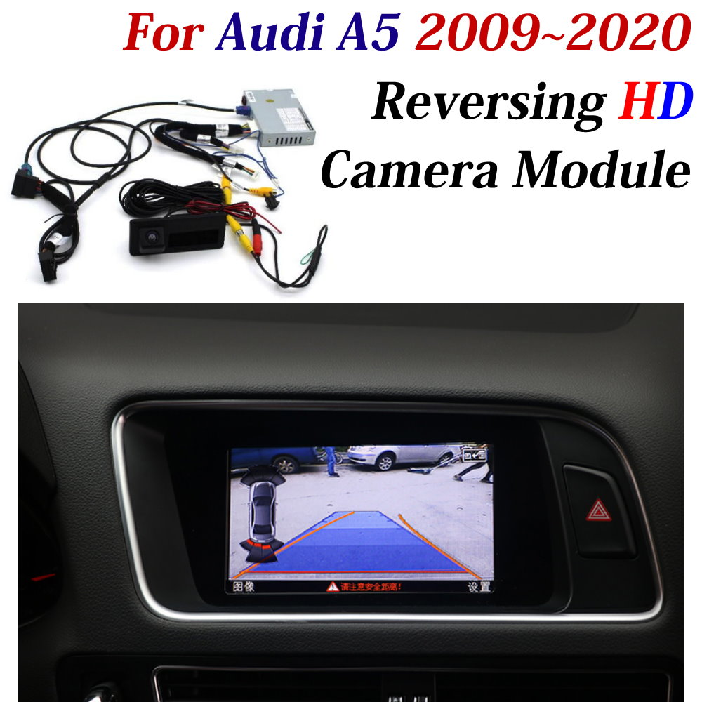 Car Reversing Trajectory Image Camera Decoder Adapter For Audi A5 2010-2020 Original Screen Upgrade CAM Parking Assist System