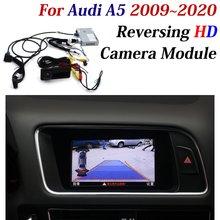 Car Reversing Trajectory Image Camera Decoder Adapter For Audi A5 2010 2020 Original Screen Upgrade CAM Parking Assist System