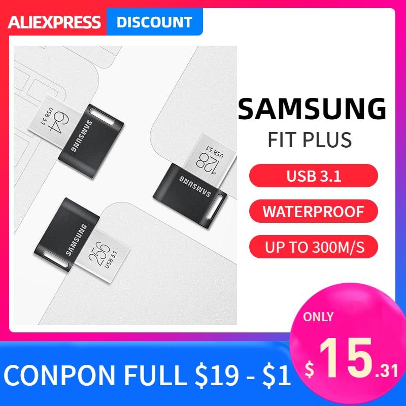 Samsung otg usb flash Pendrive 32GB 64GB 128GB usb3.1 pen drive 300m/s read speed moomin memory stick for laptop tablet Mac disk USB Flash Drives     -