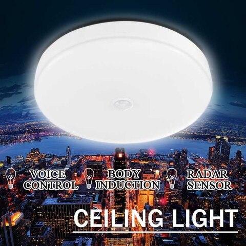 12 w 18 w led pir sensor de luz de teto infravermelho flush montado decoracao