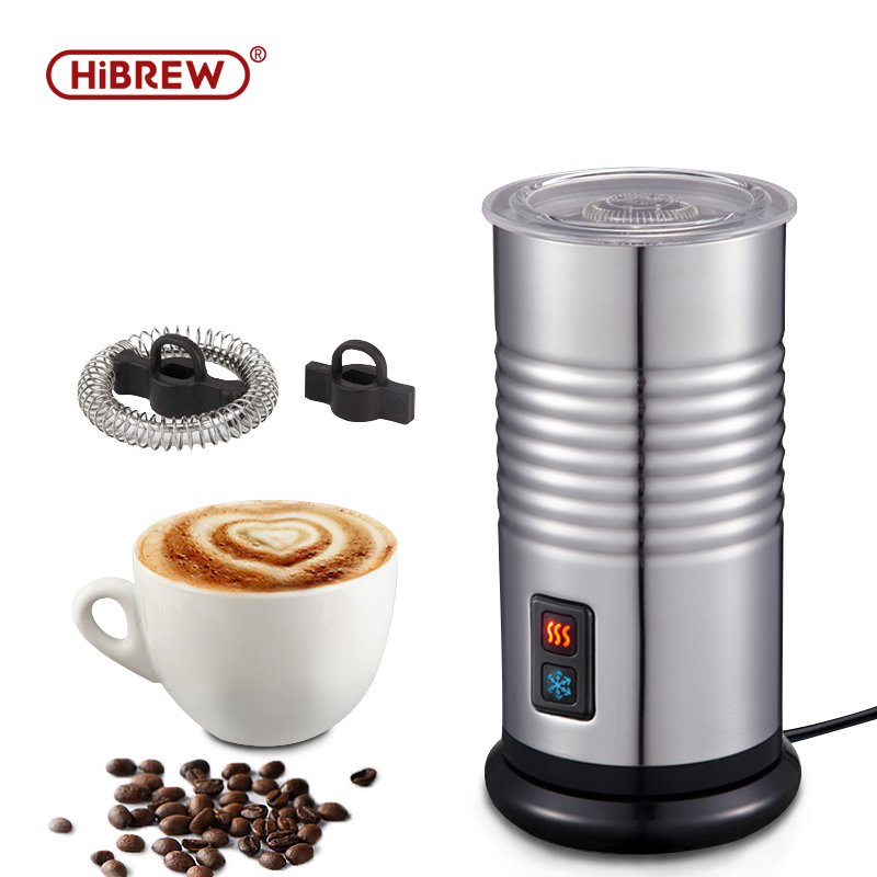HiBrew Electric Milk Frother  Automatic Milk Frother  Cold/Hot Frothing Function Fully  Hot Chocolate Mix Stainless Steel Frothe