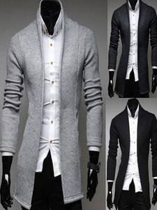 Jackets Blazer Mandarin-Collar Coats Fits-Suit Business Male Slim Casual Knitted