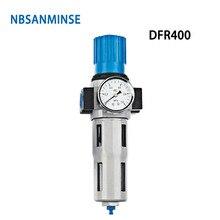 NBSANMINSE DFR M5 1/8 1/4 3/8 1/2 3/4 1 Air Filter Regulator One Units FRL Air source equipment units Air compressor parts