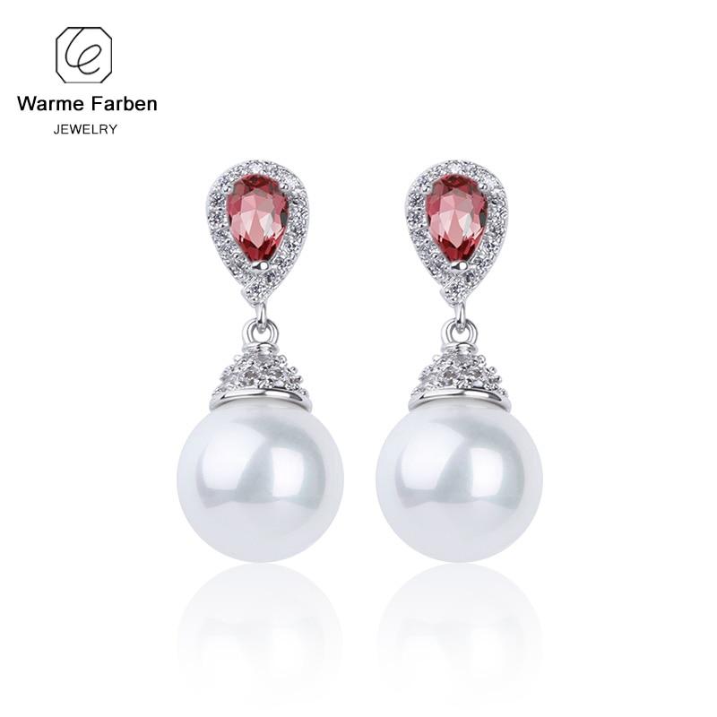 Warme Farben 925 Sliver Women Earrings Made With Swarovski Crystal Elegant Pearl Drop Earrings Fashion Jewelry Wedding Earrings 3