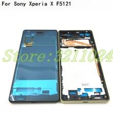 Środkowa ramka do Sony Xperia X F5121 F5122 ramka ramka obudowa LCD środkowa płyta czołowa wymiana części zamienne do napraw