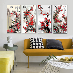 Modern Simple Plum Blossom Canvas Painting Flower Wall Art Print Printing Canvas Painting Wall Art Picture for Home Decortion
