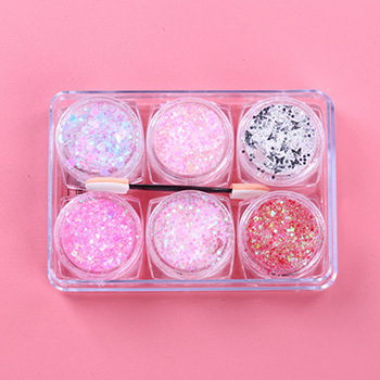 6 Colors Diamond Highlight Eyeshadow Sequins Shimmer Glitter Gel Mermaid Sequins Powder For Face Eye Body Makeup Party Cosmetics 1