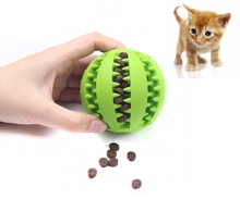 dog toy ball pet toy bite resistant sound making elastic ball large dogs molar golden retriever teddy tooth cleaning training ba AAA Funny Pet Dog Toys Nontoxic Bite Resistant Toy Ball for Pet Dogs Puppy Food Treat Feeder Tooth Cleaning Ball Pet Products