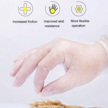 100pcs/Set Protection Gloves Transparent PVC Vinyl Disposable Gloves Dishwashing Latex Rubber Garden Universal For Home Cleaning 2