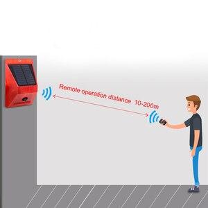 Image 3 - Солнечный звуковой сигнал Лампа вспышка Предупреждение светильник оповещения движения PIR Сенсор строба сирены охранной сигнализации Системы для фермы дома во дворе на открытом воздухе