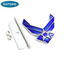 1 pieza de emblema de Metal para rejilla frontal de coche de la Fuerza Aérea Americana apto para accesorios universales de decoración de cabeza de coche
