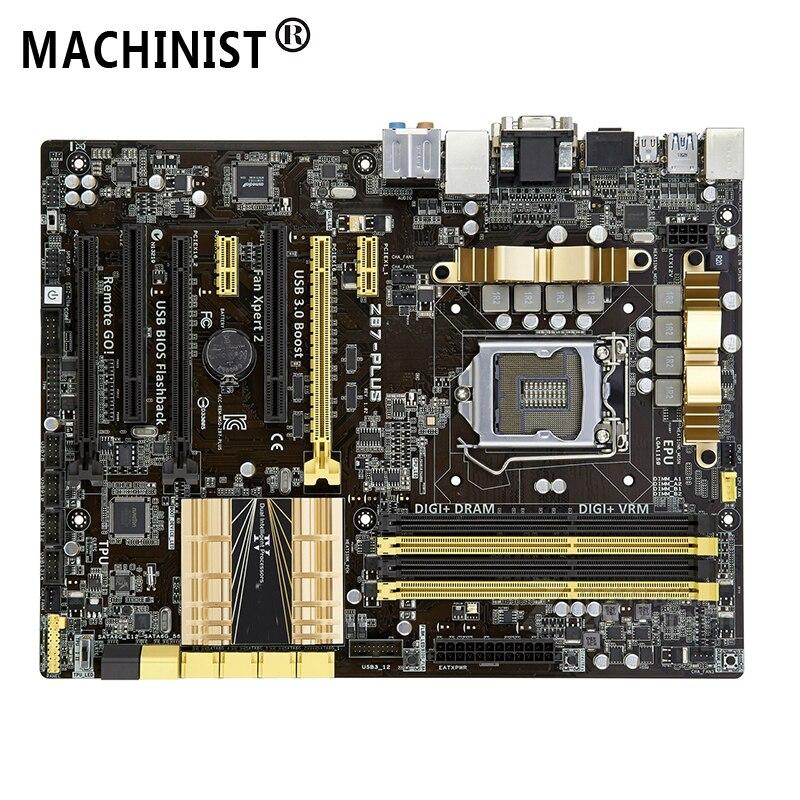 For ASUS Z87-PLUS Desktop Motherboard MB Z87 LGA 1150 ATX DDR3 32GB SATA3.0 USB3.0 100% Fully Tested Free Shipping