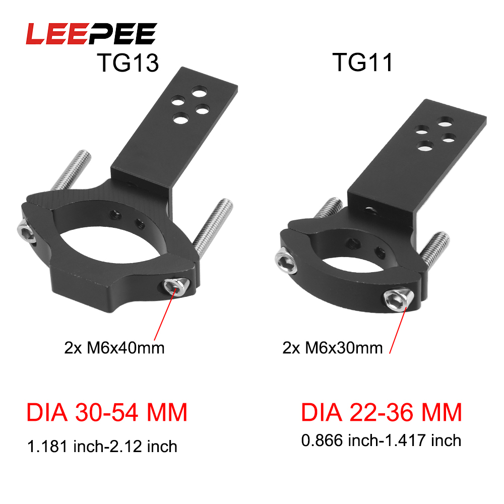 LEEPEE TG11 TG13 Adjustable Clamp Spotlight Holder Universal Mount Motorcycle Headlight Bracket Motorcycle Accessories