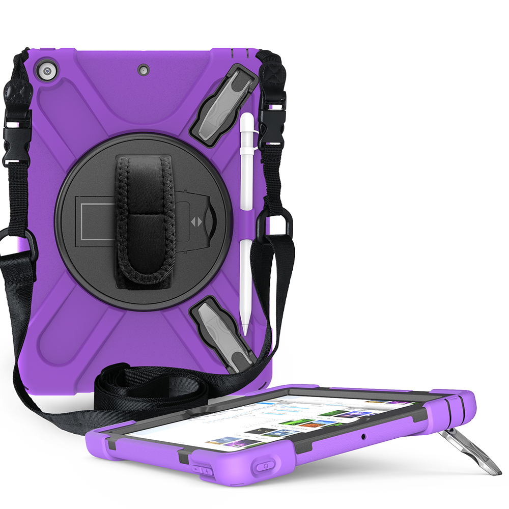 purple Other Case for iPad 10 2 Heavy Armor Kids Shokproof Cover A2197 A2198 A2200 A2270 A2428 A2429