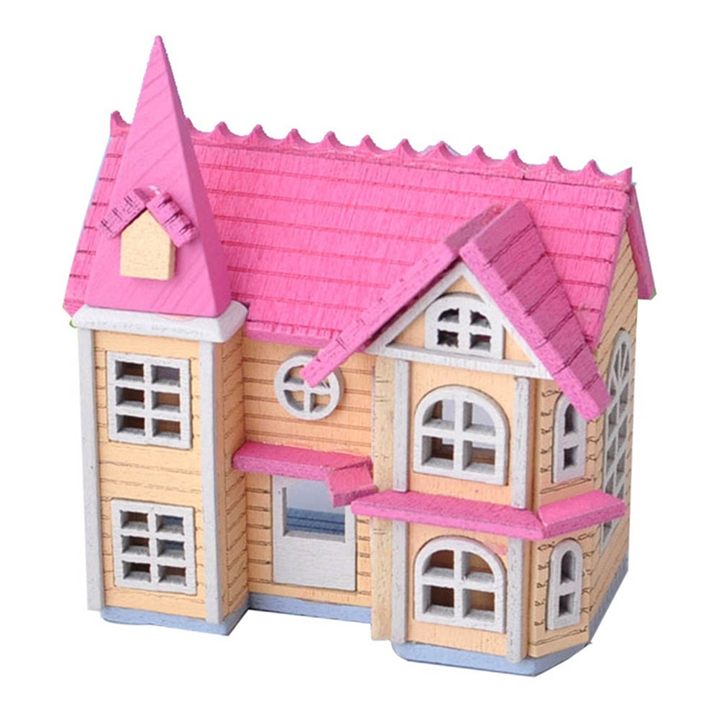 1/12 Mini House Wooden Crafts for DIY Toys Dollhouse Accessories, DIY Handcraft Miniature Project Kit, Fairy Garden Decor image