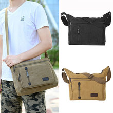 Men Messenger Bags Vintage Canvas Men's