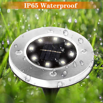 SHOPLED LED Solar Buried Garden Light 5050SMD Outdoor Decking Terrace Lighting Lawn Lamp Waterproof Yard Driveway Stairs Lights