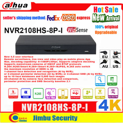 Dahua wizsense nvr NVR2108HS-8P-I 8 poe 8ch 4k detecção de rosto ai busca perímetro detecção all-channel ai por câmera