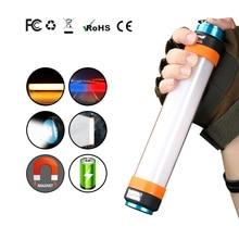KINGSHAN magnes latarka Camping latarka przenośna latarnia USB akumulator latarka wodoodporna IP67 oświetlenie awaryjne magnes