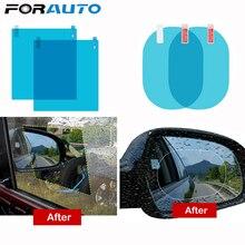 FORAUTO 2 шт., автомобильная зеркальная пленка, прозрачная пленка, противотуманная мембрана, антибликовый Водонепроницаемый непромокаемый автомобильный стикер, автомобильные аксессуары