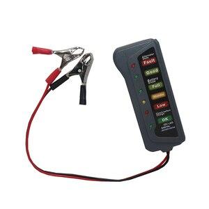 Image 3 - Mini 12 فولت سيارة جهاز اختبار بطارية الرقمية المولد تستر 6 LED أضواء عرض سيارة أداة تشخيص السيارات جهاز اختبار بطارية للسيارة