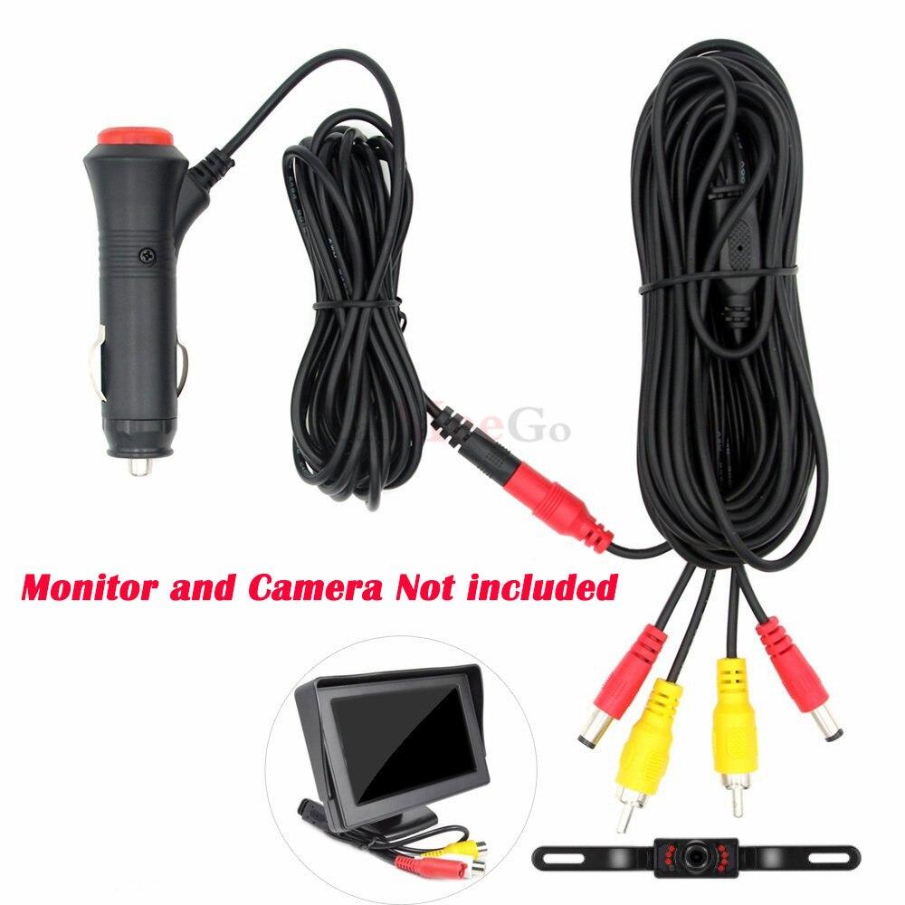 Einfach Installieren Video Power Kabel Für Rück Kamera Anschließen Auto Monitor zu Auto Zigarette Leichter Adapter