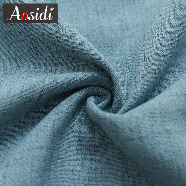 Фото aosidi linen textured 100% blackout curtains for bedroom modern