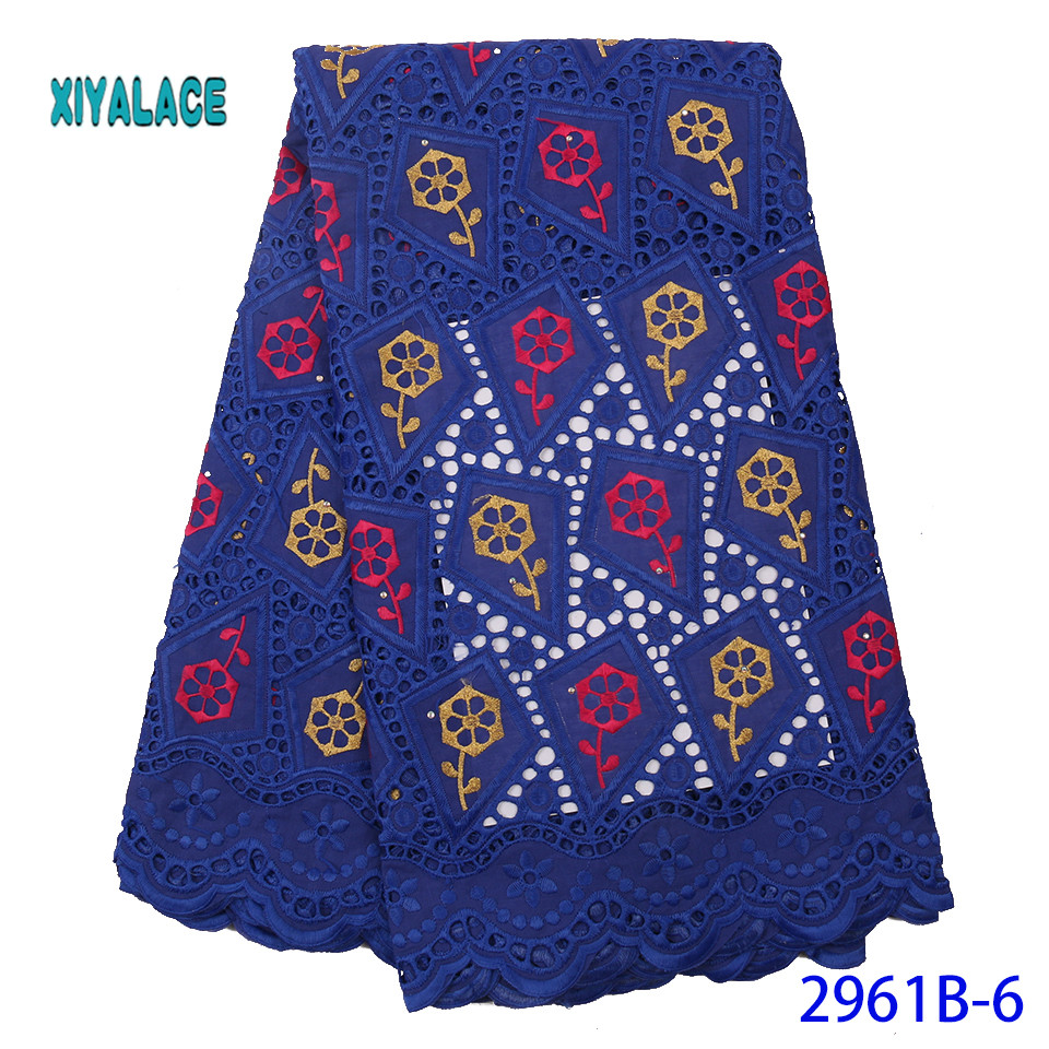 African Lace Fabric Latest High Quality 2019 Lace Embroidery French Lace Fabric Bridal Lace For Nigerian Party Dress YA2961B-6