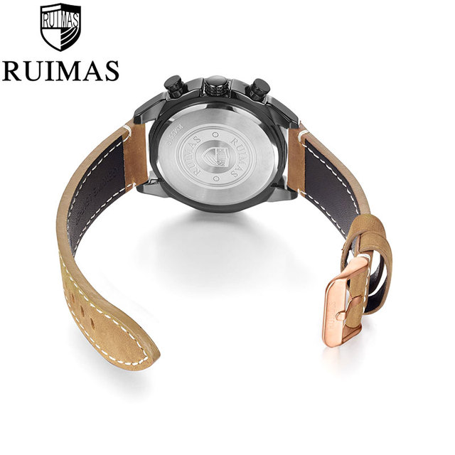 Ruimas Watches Leather Brand RL551GRE