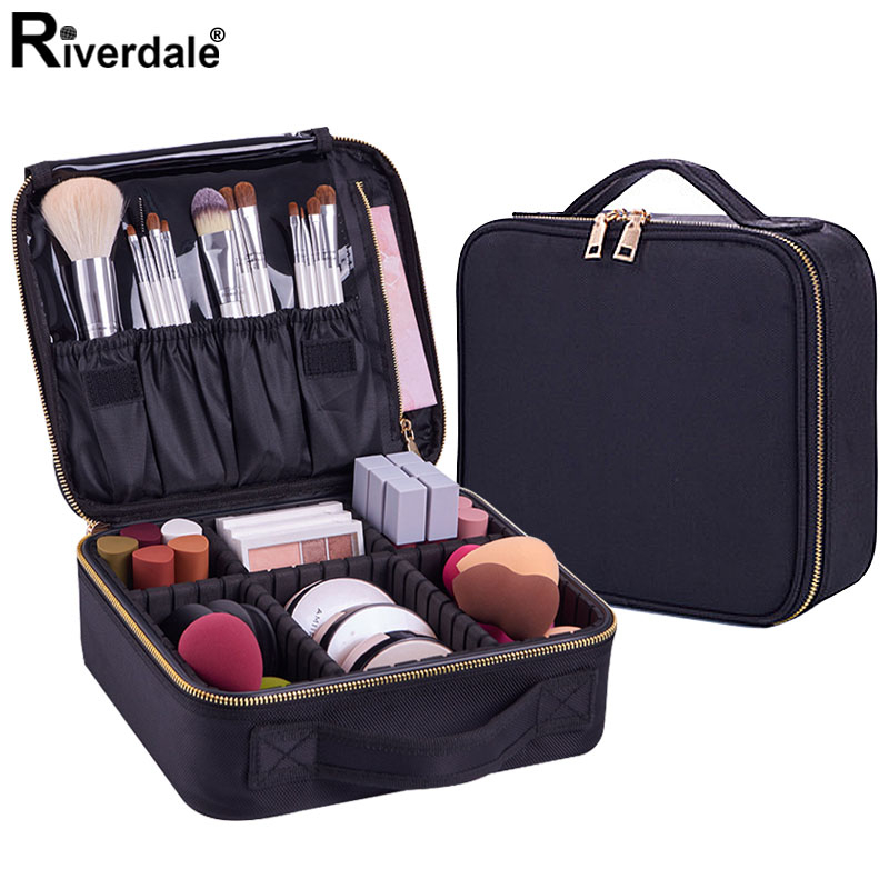 Women Fashion Cosmetic Bag Travel Makeup Organizer Professional Make Up Box Cosmetics Pouch Bags Beauty Case For Makeup Artist