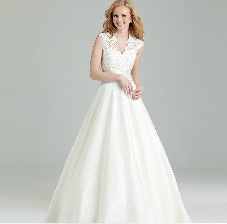 Lace Appliques Cheap Hot Sexy V-neck Off The Shoulder A-line Vintage Wedding Dress Vestido De Noiva Brides Gown Beading Buttons