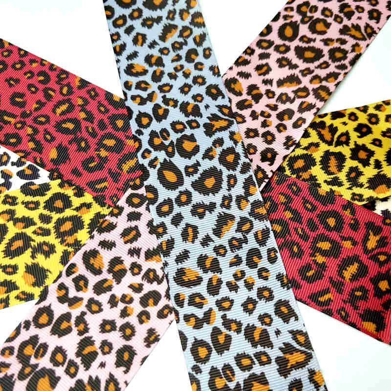 Sale Hl 50mm 2yards 5yards Leopard Grosgrain Ribbons Wedding Party Decoration Diy Sewing Gift Wrapping Christmas Ribbon Real in Ribbons from Home Garden
