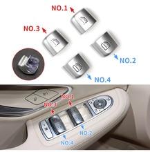 Применимо к Mercedes-Benz W205 C180 C200 W253 GLC260 GLC300, стеклянная кнопка переключателя двери