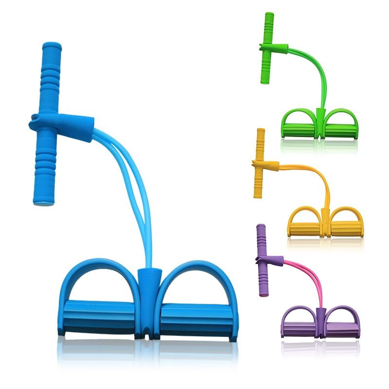 5 цветов латексная трубка Тяговая Веревка Йога Пилатес тренировки Эспандеры Напряжение Фитнес оборудование мышцы силовой тренировочный