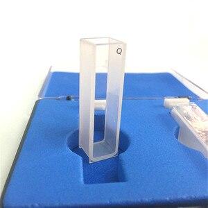 Image 2 - Quartz Cuvette Light Path 10 mm Quartz Absorption Cell 3.5ml Liquid Sample Cell Spectrometer Cell Frit Sintering Technology 2/PK