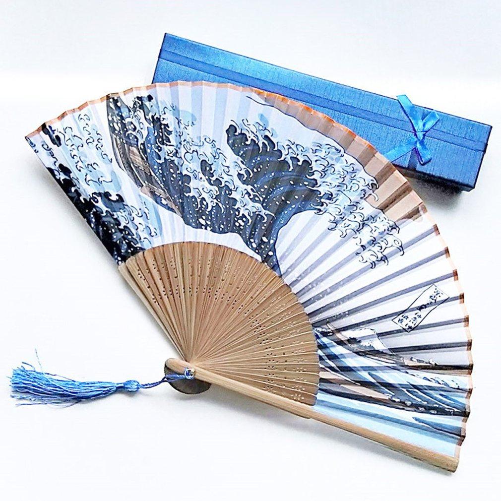 Foldable Hand Folding Fan Summer Outdoor Travel Cooling Fans Decorative Fans
