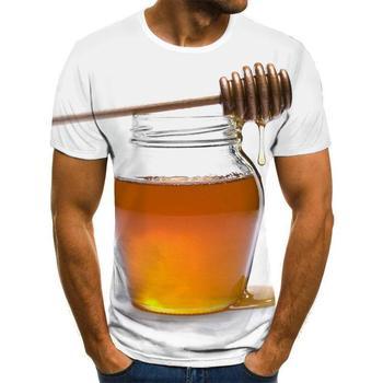 Summer New Men 'S T -Shirt Ms .Bee 3d Sweatshirt 3d Print Personality Short Sleeve Hip Hop O -Neck Tee Top