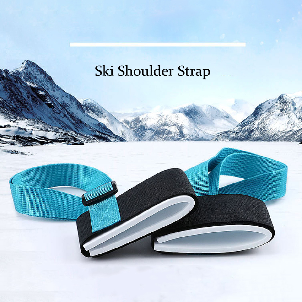 Ski Shoulder Strap Hand-held Double Snowboard Strap Nylon EVA Strap Adjustable Multifunctional Belt Hand Handle Carrier 1190