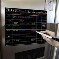 Magnetic Dry Erase Calendar Set 16X12 Inch Whiteboard Weekly Planner Organizer A3 White Board for Refrigerator Fridge Kitchen Ho|  -