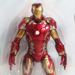 Image 5 - Figuras de acción de Marvel Select, Iron Man, MK43, Mark XLIII, muñecos de juguete, Brinquedos, modelo regalo de colección
