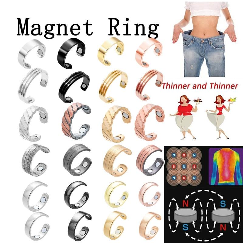 Новинка 2020 магнитное кольцо для похудения уход за похудением фитнес регулируемое сжигание веса жира модное открытое дизайнерское ювелирно...