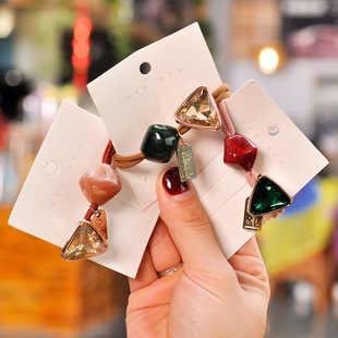 ใหม่แฟชั่นลูกปัดคริสตัล Scrunchie ผู้หญิง Elastic ผม Band อุปกรณ์เสริมผมเชือกผู้ถือแหวนเครื่องประดับ Headwear